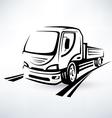 van bulk cargo transport outlined sketch vector image