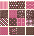 Set of abstract vintage seamless patterns vector image