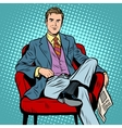 Boss businessman Director vector image