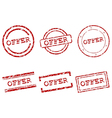 Offer stamps vector image vector image