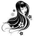 Asian girl vector image