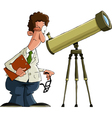 astronomer vector image