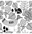 Black and white endless background with nature vector image