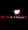 black friday trolley with text red and white vector image