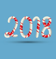 candy cane 2018 text numbers mint hard striped in vector image