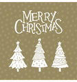 christmas card with christmas trees vector image