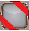 Cooper blank app icon with red ribbon vector image