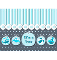 It is a boy card for greeting invitations vector image