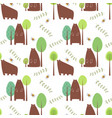 Seamless pattern bear vector image