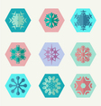 set of different snowflakes icons vector image