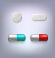 Tablets and pills vector image