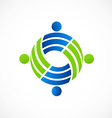 Teamwork circle people group logo vector image