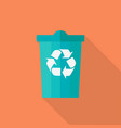 trash bin in flat design vector image