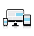 Responsive design for web icons set vector image