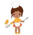 African American Little Girl vector image