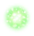 Abstract explosion with green dust elements vector image