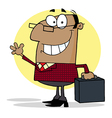American Businessman Waving A Greeting vector image