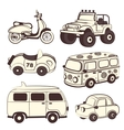 Retro cars icons set vector image