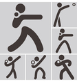 shot put icons vector image