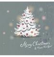 Drawn Christmas tree vector image