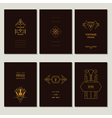 Set of Art Deco Cards and Vintage Frames vector image vector image