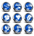 3d health and medical icons se vector image vector image
