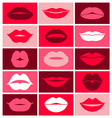 design of lips icons vector image