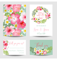 Save the Date Card - Tropical Flowers for Weddings vector image