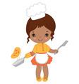 African American Little Girl vector image
