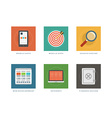 Business flat design icons vector image