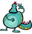 cartoon dragon funny fantasy creature vector image