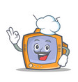 Chef tv character cartoon object vector image