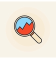 Magnifying glass with chart vector image