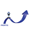 PROFITS UP vector image