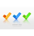 Yes check marks vector image