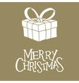 christmas card with giftbox vector image