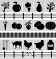 set of farm production icons vector image vector image