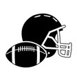 football helmet ball sport equipment image vector image