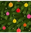 christmas tree fir branch decorated seamless vector image vector image