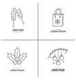Christmas Logos vector image vector image