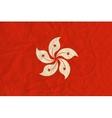 Hong Kong paper flag vector image