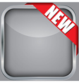 Blank app icon with new ribbon vector image