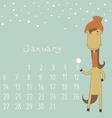 Calendar for january 2014 vector image