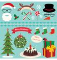 Christmas Set of celebratory symbols vector image