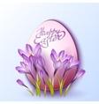 Egg in crocus flowers vector image