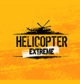 helicopter extreme ride creative banner vector image