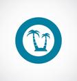 island icon bold blue circle border vector image