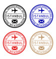istanbul mail stamps colored set of round impress vector image