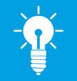 light bulb idea icon white vector image