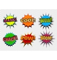 Set of colorful comic speech bubbles vector image